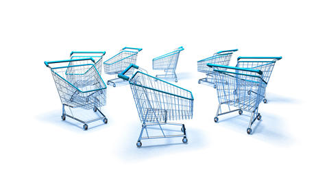 shopping cart 2 Stock Video Footage