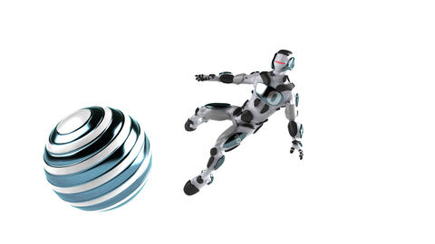 soccer robot 1 Stock Video Footage