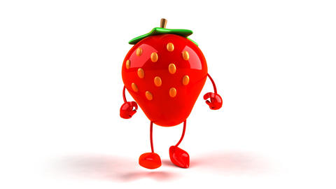 strawberry hiphop Stock Video Footage