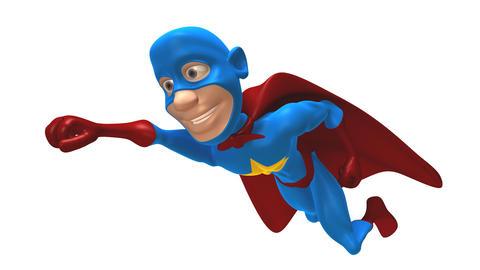 superhero 2b Stock Video Footage