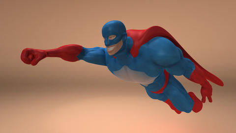 superhero animated 2 Stock Video Footage