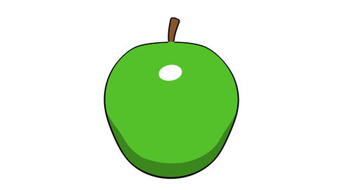 Toon Apple stock footage