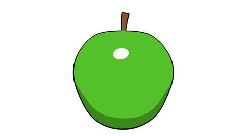 toon apple Stock Video Footage