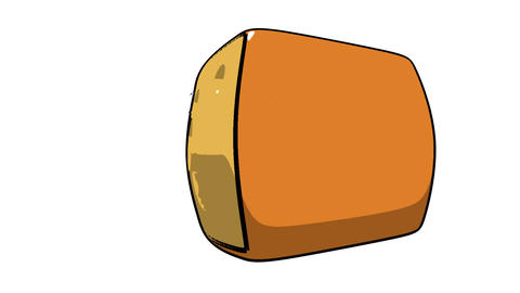 toon cheese Stock Video Footage