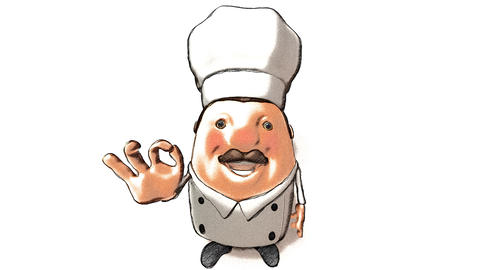 toon chef right Animation