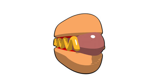 toon hotdog Animation