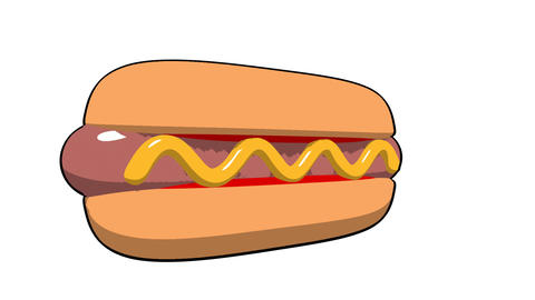 toon hotdog Stock Video Footage
