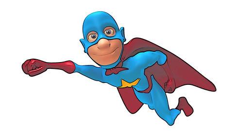toon superhero Stock Video Footage