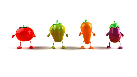 vegetables dance 1 Stock Video Footage