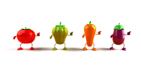 vegetables dance 1 Stock Video Footage