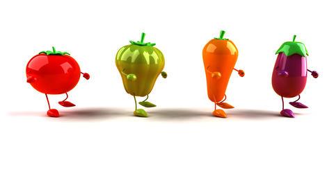 vegetables hiphop1 Stock Video Footage