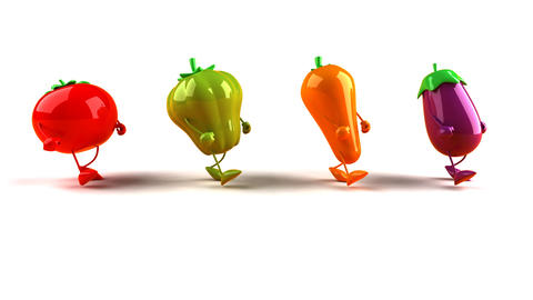 vegetables hiphop1 Animation