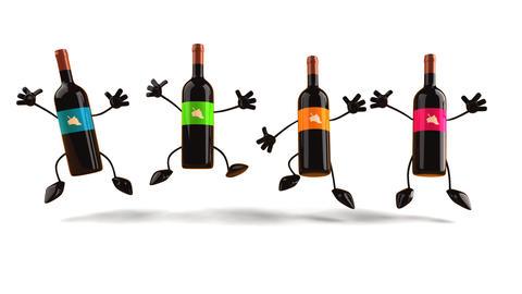 wines Stock Video Footage
