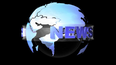 world news b Stock Video Footage
