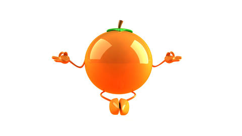 yoga orange HD Stock Video Footage
