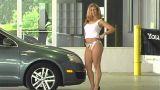 Sexy Mechanic (5) stock footage
