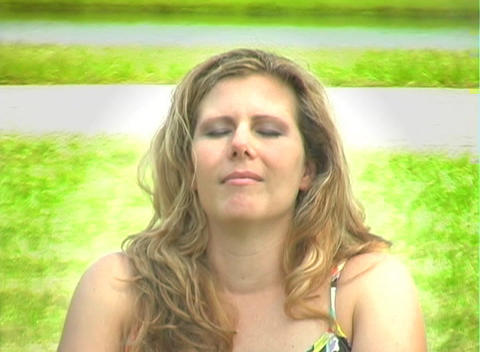Beautiful Blonde Outdoors-1 Stock Video Footage