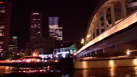 Boat Quay Skyline Stock Video Footage