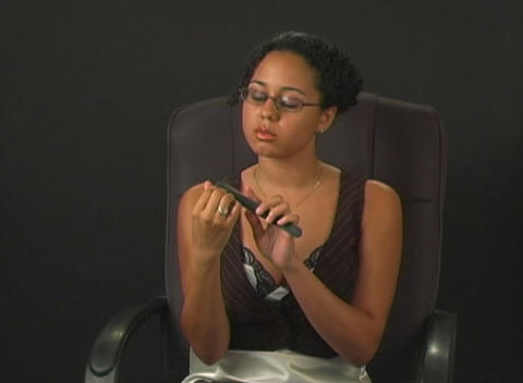 Businesswoman With an Attitude Files Her Nails Stock Video Footage