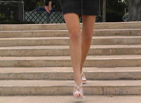 Luscious Female Legs Stock Video Footage