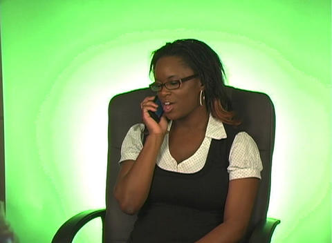 Beautiful Busineswoman with Cell Phone (a) Stock Video Footage