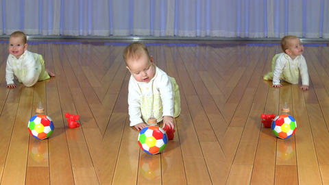 Crawling baby Stock Video Footage