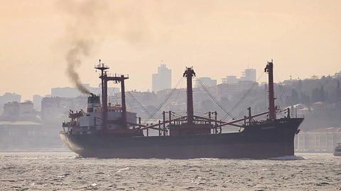 Marine air pollution Footage