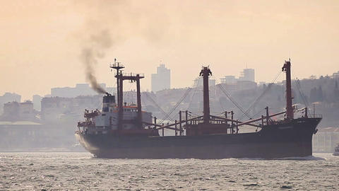 Marine air pollution Stock Video Footage