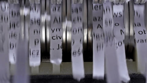 Paper shredder cuts documents Footage