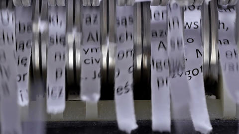 Paper shredder cuts documents Stock Video Footage
