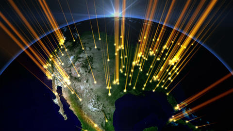 Light Globe 06 USA stock footage