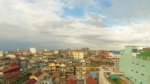 Phnom Penh cityscape timelapse Stock Video Footage