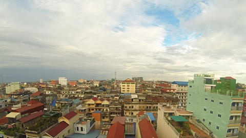Phnom Penh cityscape timelapse Stock Video Footage