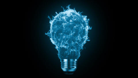 Flaming bulb Stock Video Footage