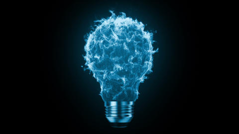 Flaming bulb Animation