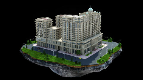 Construction of big residential building Stock Video Footage