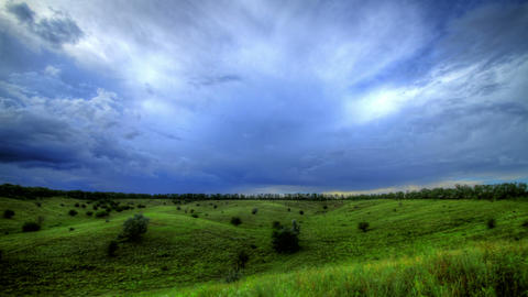 4k. Timelapse HDR. Beautiful Landscape With Storm Stock Video Footage