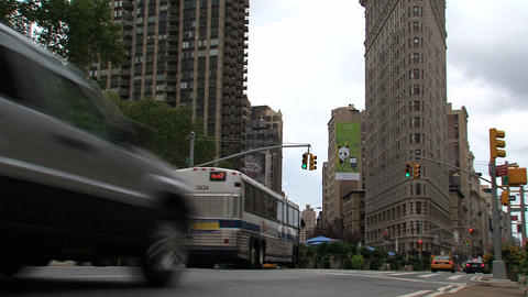 NYC 205Flatiron building Stock Video Footage