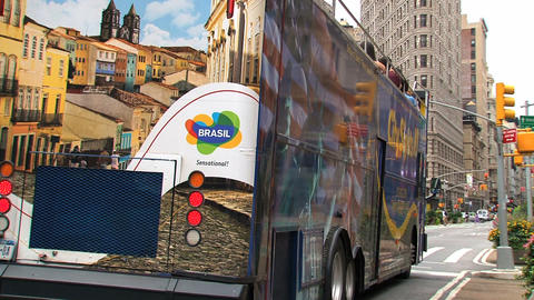 Citysights bus Stock Video Footage