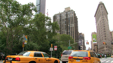 NYC 211Flatiron Building Stock Video Footage