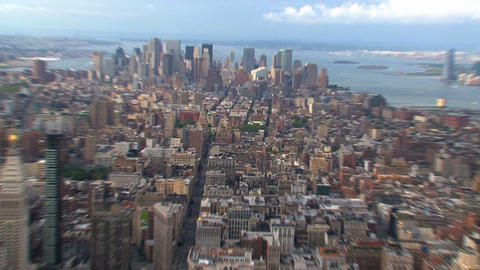 Zoom in to Manhattan Stock Video Footage