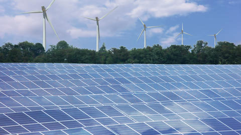 Renewable energy. Timelapse Stock Video Footage