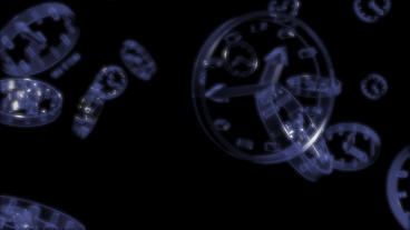 transparent glass clock Stock Video Footage