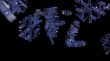 transparent snowflake falling Animation