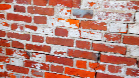 Red brick wall Stock Video Footage