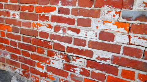 Red brick wall Footage