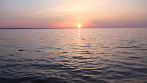 sunset on the sea Stock Video Footage