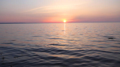 sunset on the sea Stock Video Footage
