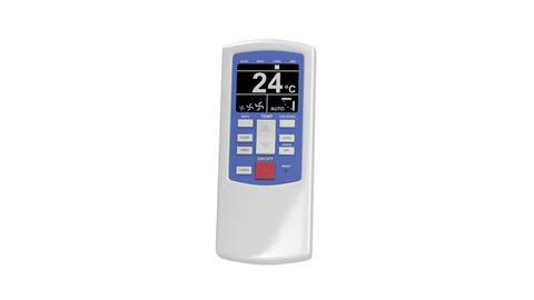 Air conditioner remote control Stock Video Footage