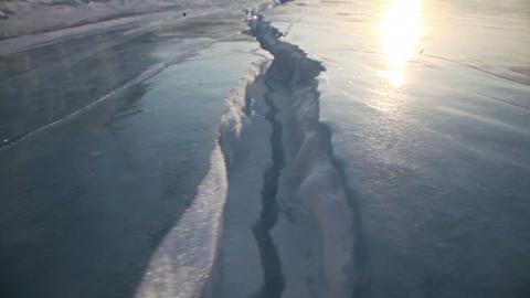 Ice of Baikal lake Stock Video Footage